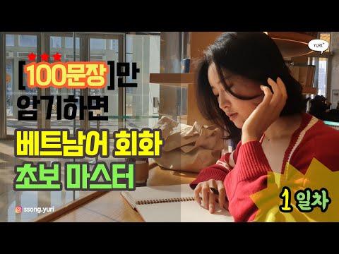 [1일차/암기편] 100문장만 암기하면 베트남어 회화 초보 마스터   택시에서   율쌤   YURI TV