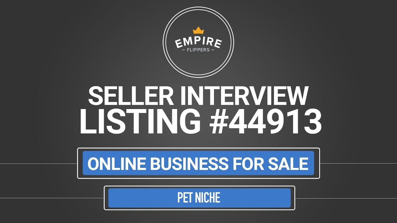 Online Business For Sale - $17 9K/month in the Pet Niche