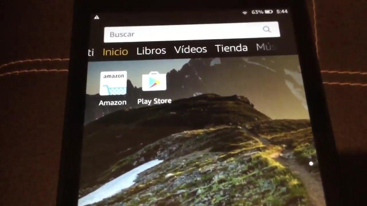 Instalar Google Playstore en la Tablet Amazon Fire 8 HD edición 8va Gen  2018 Jailbreak No Root