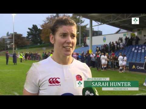 Irish Rugby TV: Sarah Hunter  Ireland Women 10 England Women 12