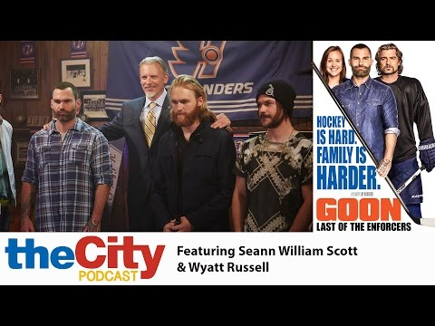 Goon 2 Actors Seann William Scott and Wyatt Russell