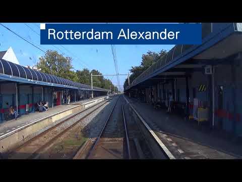 A train driver's view: Rotterdam CS - Amsterdam CS, SLT, 25-Sep-2017.