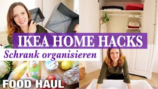IKEA HOME ORGANIZATION HACKS / IDEAS | Kleiderschrank NEU ORGANISIEREN | FOOD HAUL & VLOG |Nordgreen