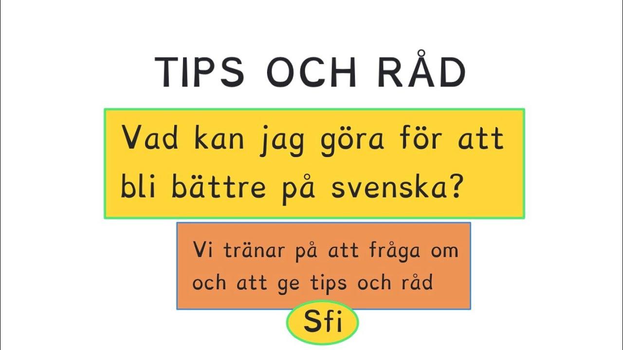 lära sig svenska språket gratis youtube