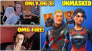 "Streamers React to NEW *OG* ""UNMASKED"" BLACK & RED KNIGHT Skins In Fortnite"