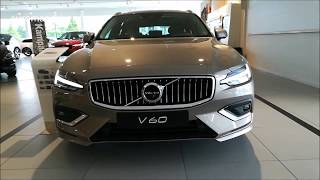 WOW!!!! NEW 2019 Volvo V60 Walk Around Review With Euroman Driver