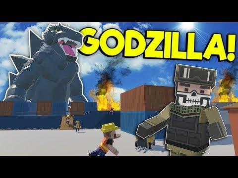 GODZILLA DESTROYS CITY HARBOR! - Tiny Town VR Gameplay - Oculus VR Game
