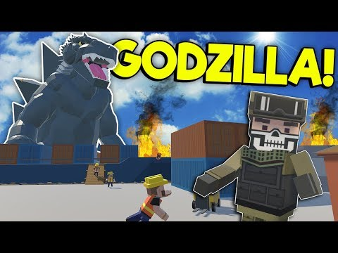 GODZILLA DESTROYS CITY HARBOR! - Tiny Town VR Gameplay - Oculus VR Game