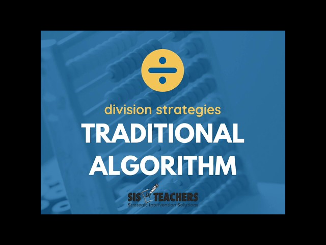 Traditional Algorithm