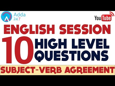 Subject Verb Agreement for SBI PO