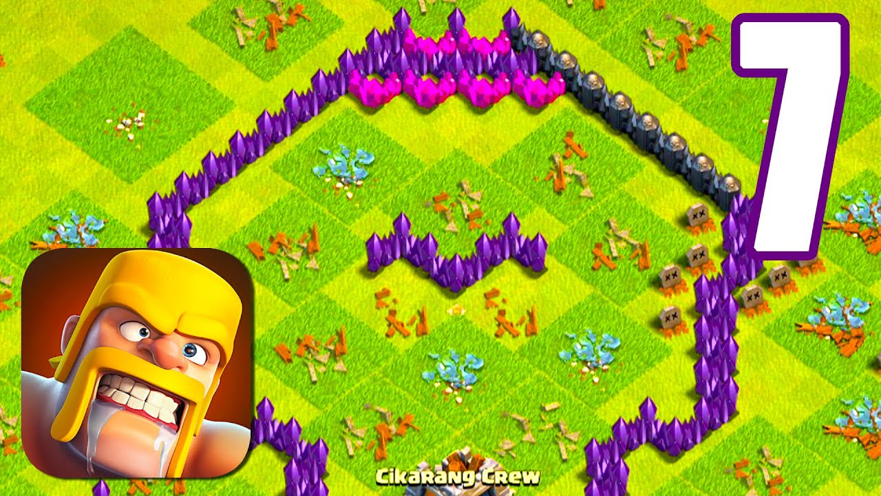 CLASH OF CLANS Walkthrough Gameplay (iOs, Android) Part 7 | Power of Gameplay