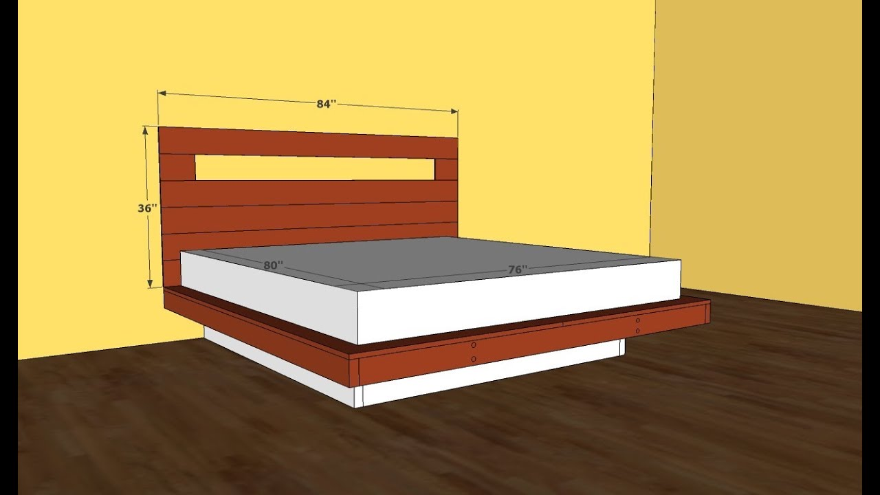 Platform Bed Frame Plans - YouTube