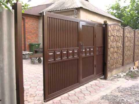 Заказать откатные ворота в Донецкой области - YouTube