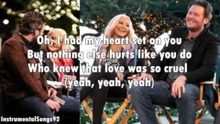 Christina Aguilera & Blake Shelton - Just A Fool Instrumental / Karaoke