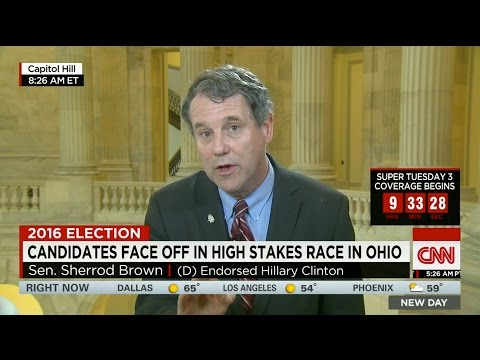 Progressive Sen. Sherrod Brown Stumps For Centrist Hillary Clinton