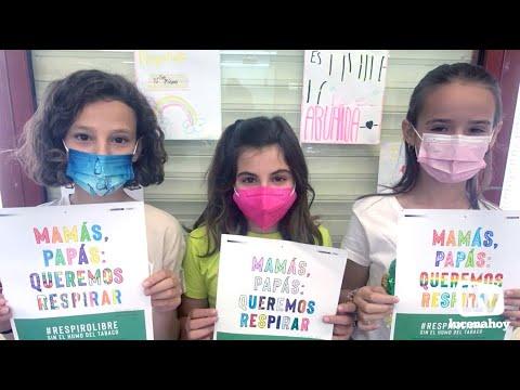 VÍDEO: Escolares lucentinos participan en la campaña Espacios sin Humo promovido por AECC en Lucena