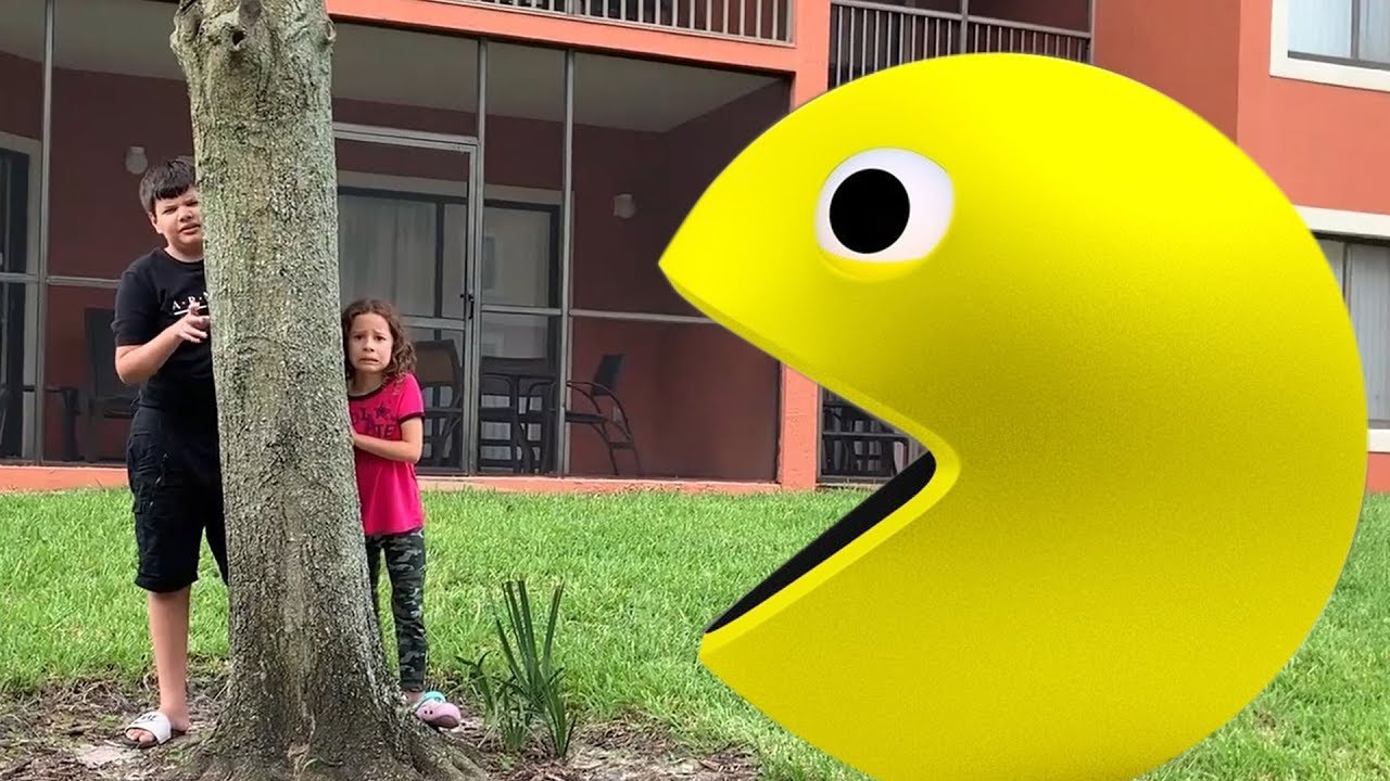 EU E MEU IRMÃO e história do Pac-Man GIANT  do jogo
