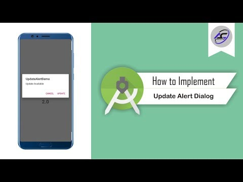 How To Implement Update Alert Dialog In Android Studio | UpdateAlertDialog | Android Coding