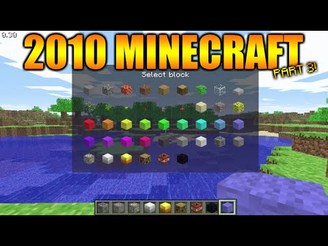 ★Minecraft Gameplay From 2009/2010 - The First EVER Creative Menu + World Generation Systems★