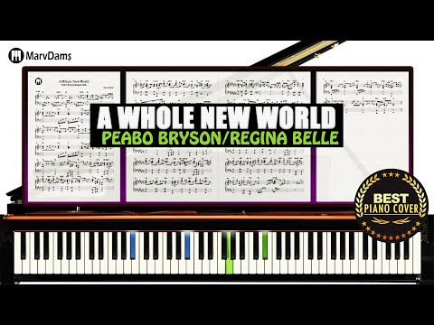 A Whole New World Aladdin  Piano Sheet Music Tutorial Guide