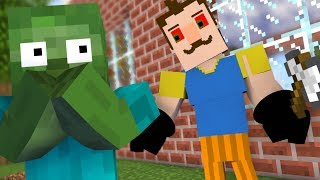 MONSTER SCHOOL : HELLO NEIGHBOR BECAME VILLAIN EVIL - Minecraft Animation