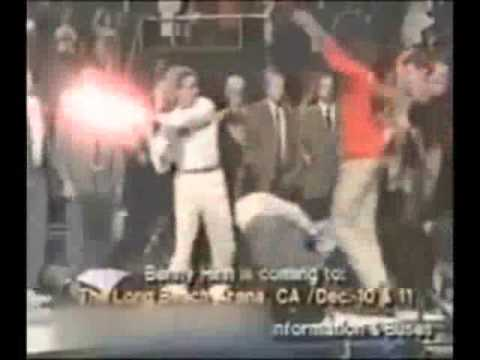 Amazing BENNY HINN LET THE BODIES HIT THE FLOOR WITH LIGHTSABERS