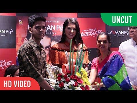 UNCUT - Sunny Leone Promotion Tera Intezaar | Lawman Pg3 Clothing store in Mumbai