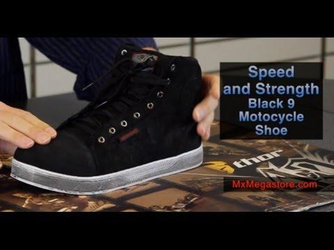 Speed and Strength Black Nine Moto Shoe
