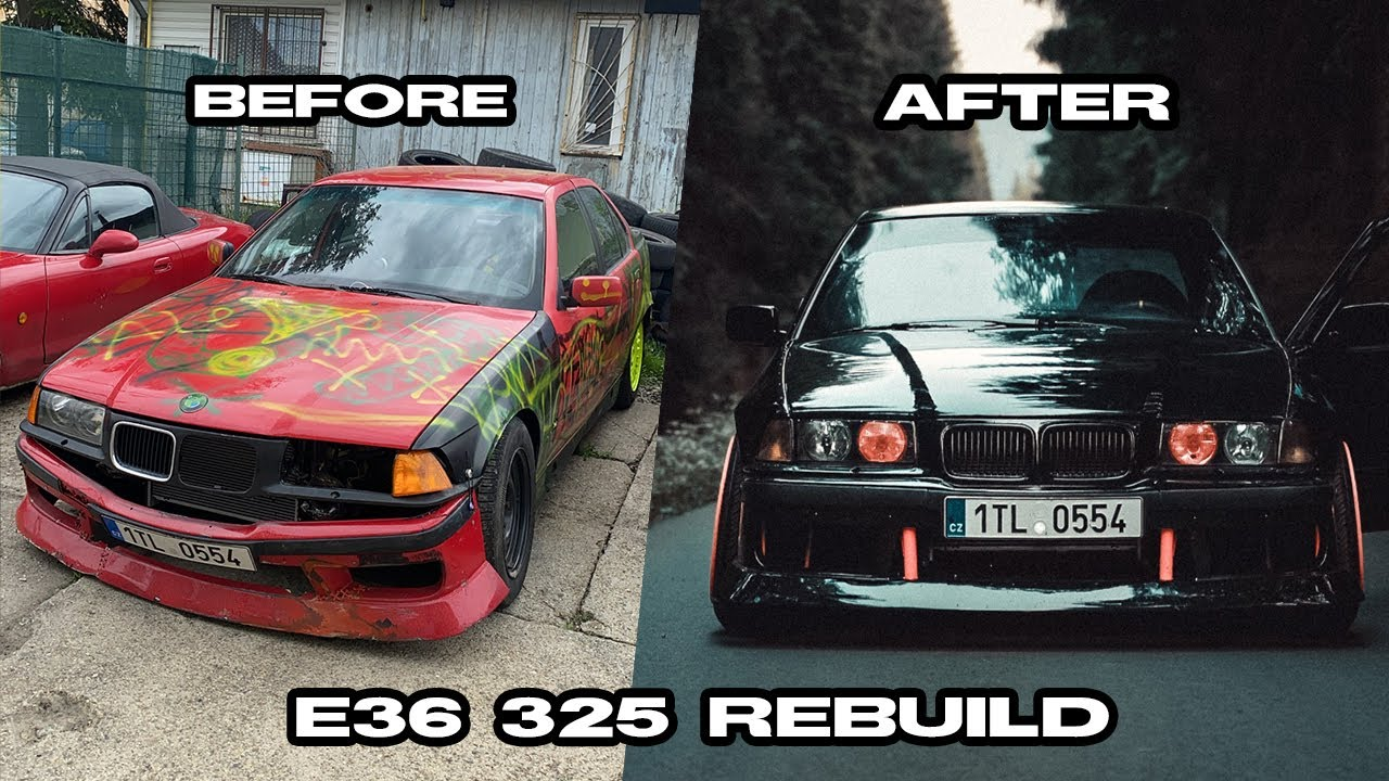 Přestavba E36 325 v 10 minutách | Z vraku zase auto! l E36 Drift project