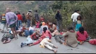 Truck Accident in markundi चोपन/सोनभद्र-मारकुण्डी  Sonbhadra Accident Markundi