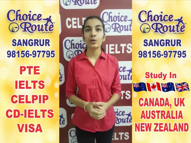 Congratulations Alisha Thapar - Choice Route is the Best PTE and IELTS institute in Sangrur City.