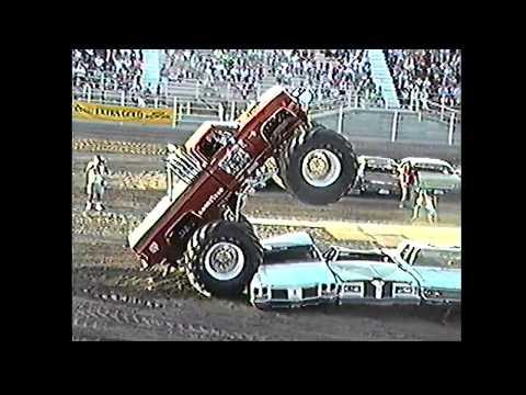 1990 MONSTER TRUCK MADNESS! Samson Eliminator 4 Wheel Crazy, am/pm Boss, am/pm Rocket, Skoal Bandit!