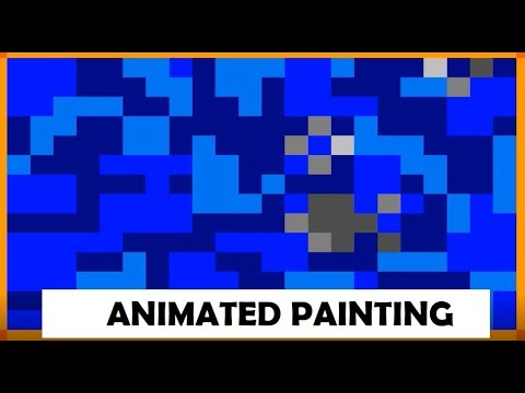 Pixel Camouflage Sketches (Animated Painting)