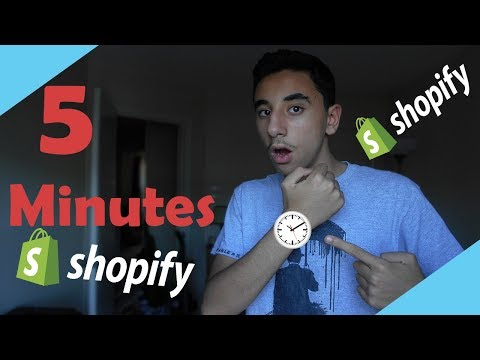 Shopify in 5 Minutes or Less!!! (Shopify dropshipping, Shopify tutorial for beginners) thumbnail