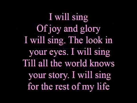 I will sing - lyrics