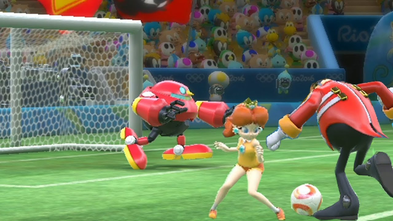 Mario and Sonic at The Rio 2016 Olympic Games Football Dr Eggman vs Vector