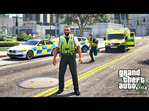 GTA 5 MODS LSPDFR 817 - BRITISH PATROL!!! (GTA 5 REAL LIFE PC MOD)