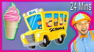 ABC Song and more Nursery Rhymes from Blippi Kids Songs – Compilation 24 minutes!