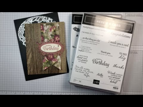 Stampin' Up! Here's A Card With Pressed Petals Birthday Card Tutorial