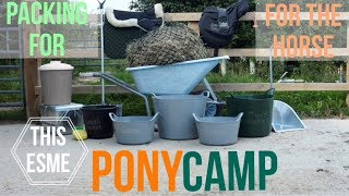 Packing for Pony Club Camp - For the Horse | This Esme