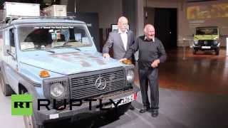 Germany: See 76-year-old global traveller donate car to Mercedes museum