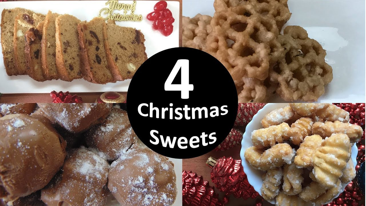 Christmas Sweets.4 Christmas Sweets Kulkuls Rich Cake Marzipan Rose Cookies