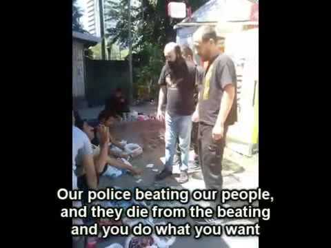 Serbian Chetniks vs police