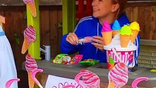 Эльвира и братик играют в магазин мороженого или Elvira Pretend play selling ice cream