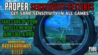 GUIDE: Proper Way To Adjust & Setup Sensitivity - Same Mouse Sensitivity In All Games | PUBG PC Lite