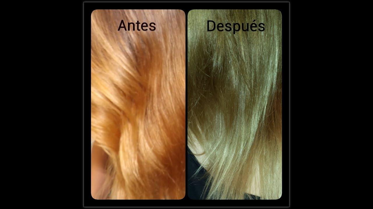Corrector de color para cabello naranja