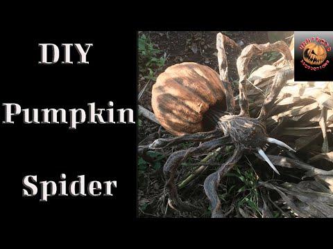 Pumpkin Spider from paper mache