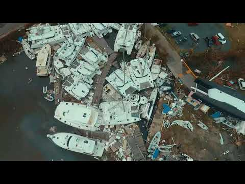 Nanny Cay after Hurricane Irma - Drone Footage