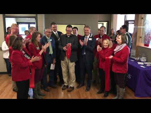 Ribbon cutting with Marathon County at North Central Health Care