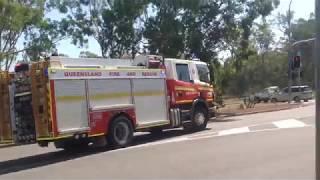 QFRS 646 Alpha Responding To Fire